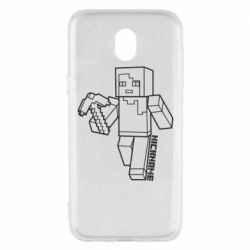 Чехол для Samsung J5 2017 Minecraft and hero nickname