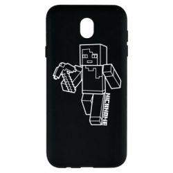 Чехол для Samsung J7 2017 Minecraft and hero nickname