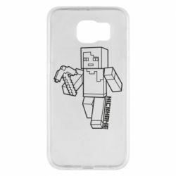 Чехол для Samsung S6 Minecraft and hero nickname