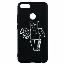 Чехол для Xiaomi Mi A1 Minecraft and hero nickname