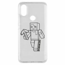 Чехол для Xiaomi Mi A2 Minecraft and hero nickname