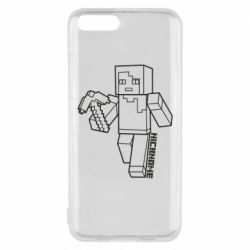 Чехол для Xiaomi Mi6 Minecraft and hero nickname