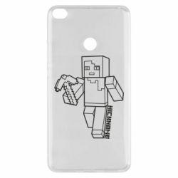 Чехол для Xiaomi Mi Max 2 Minecraft and hero nickname