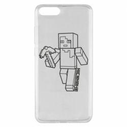 Чехол для Xiaomi Mi Note 3 Minecraft and hero nickname