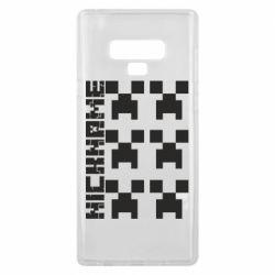 Чохол для Samsung Note 9 Minecraft and nickname