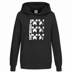 Толстовка жіноча Minecraft and nickname