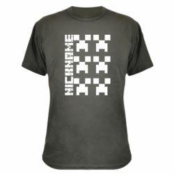 Камуфляжна футболка Minecraft and nickname