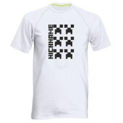 Чоловіча спортивна футболка Minecraft and nickname