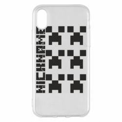 Чохол для iPhone X/Xs Minecraft and nickname
