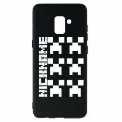 Чохол для Samsung A8+ 2018 Minecraft and nickname