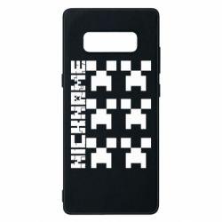 Чохол для Samsung Note 8 Minecraft and nickname