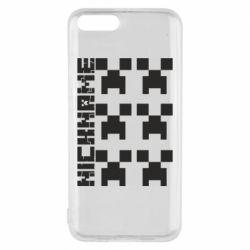 Чохол для Xiaomi Mi6 Minecraft and nickname