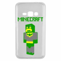 Чехол для Samsung J1 2016 Minecraft Batman