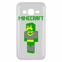 Чехол для Samsung J2 2015 Minecraft Batman