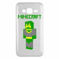 Чехол для Samsung J3 2016 Minecraft Batman
