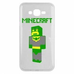 Чехол для Samsung J7 2015 Minecraft Batman