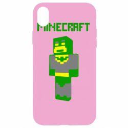 Чехол для iPhone XR Minecraft Batman
