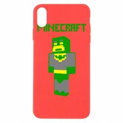 Чехол для iPhone Xs Max Minecraft Batman