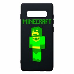 Чехол для Samsung S10+ Minecraft Batman