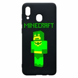 Чехол для Samsung A20 Minecraft Batman
