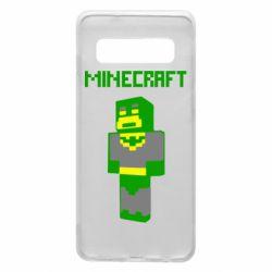 Чехол для Samsung S10 Minecraft Batman