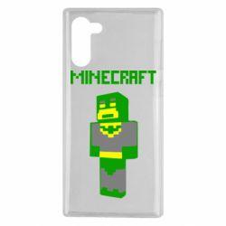 Чехол для Samsung Note 10 Minecraft Batman