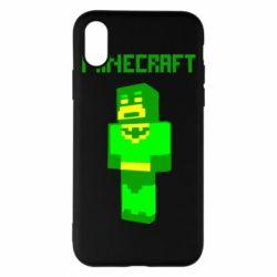 Чехол для iPhone X/Xs Minecraft Batman