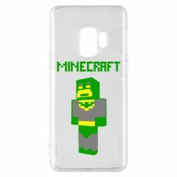 Чехол для Samsung S9 Minecraft Batman