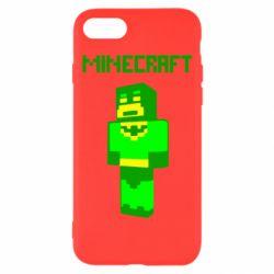 Чехол для iPhone 7 Minecraft Batman