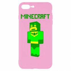 Чехол для iPhone 8 Plus Minecraft Batman