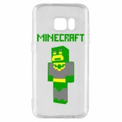 Чехол для Samsung S7 Minecraft Batman
