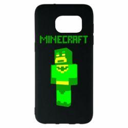 Чехол для Samsung S7 EDGE Minecraft Batman