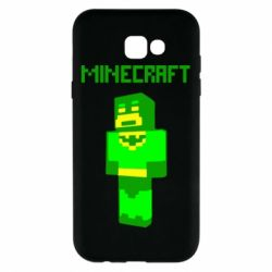 Чехол для Samsung A7 2017 Minecraft Batman