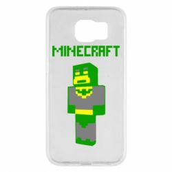 Чехол для Samsung S6 Minecraft Batman