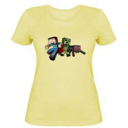 Женская футболка Minecraft Company - FatLine