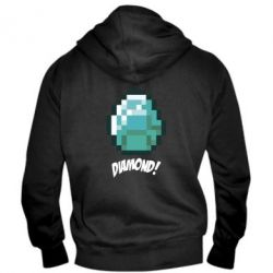 Мужская толстовка на молнии Minecraft Diamond!