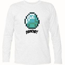 Футболка с длинным рукавом Minecraft Diamond!