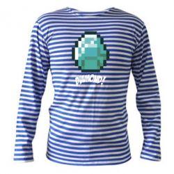 Тельняшка с длинным рукавом Minecraft Diamond!
