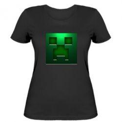 Женская футболка Minecraft Face - FatLine