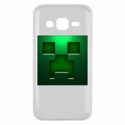 Чехол для Samsung J2 2015 Minecraft Face