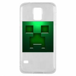 Чехол для Samsung S5 Minecraft Face