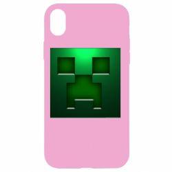 Чехол для iPhone XR Minecraft Face