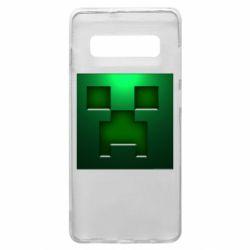 Чехол для Samsung S10+ Minecraft Face