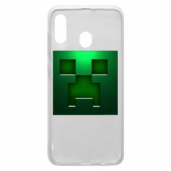 Чехол для Samsung A20 Minecraft Face
