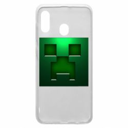 Чехол для Samsung A30 Minecraft Face