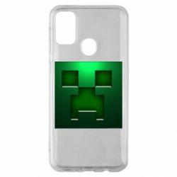 Чехол для Samsung M30s Minecraft Face