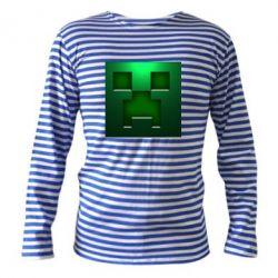 Тельняшка с длинным рукавом Minecraft Face - FatLine
