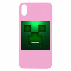 Чехол для iPhone X/Xs Minecraft Face