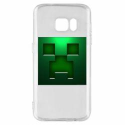 Чехол для Samsung S7 Minecraft Face