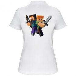 Женская футболка поло Minecraft Fan Art - FatLine